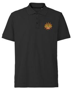 SUNKINGS Poloshirt schwarz mit Logo und Wunschname