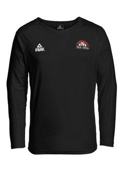 PEAK Langarm-Shootingshirt Energy schwarz mit SG-Logo und Wunschname