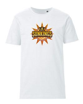 SUNKINGS T-Shirt weiß mit Logo und Wunschname