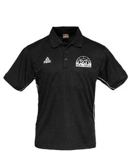 PEAK Poloshirt schwarz mit SG-Logo und Wunschname