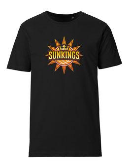 SUNKINGS T-Shirt schwarz mit Logo und Wunschname