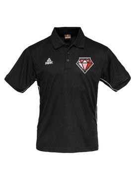 PEAK Poloshirt schwarz mit DIAMONDS-Logo und Wunschname