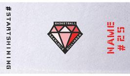 DIAMONDS Gametowel mit DIAMONDS-Logo und Wunschname