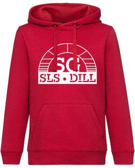 SG Hoodie rot mit weißem Logo und Wunschname