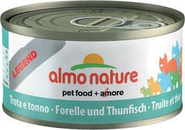 Forelle und Thunfisch 70gr.