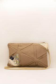 Festivalbag Small / Taupe Snakeprint Mix