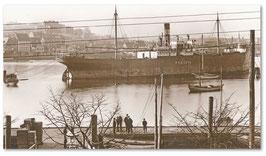Dampfer Peritia Flensburger Hafen um 1910 Bild von Wilhelm Dreesen