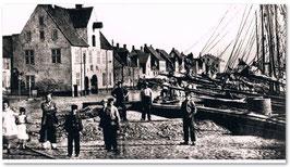 Sonniger Morgen 1869 Hafen Flensburg  Bild von Wilhelm Dreesen
