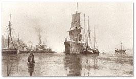 um 1880 Flensburger Hafen  Bild von Wilhelm Dreesen