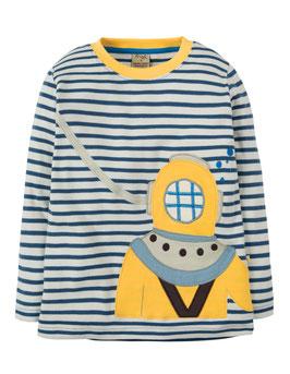 Frugi Shirt Langarm Taucher marineblau
