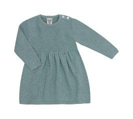 Puri Organic Strick-Kleid Ajour seagreen