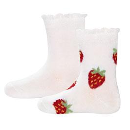 Ewers 2 Paar Socken Erdbeere weiß