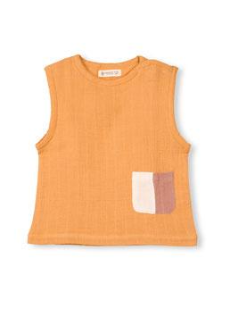 Organic by Feldmann Musselin ärmelloses T-Shirt - ockergelb