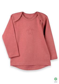 NEU Organic by Feldmann Shirt Langarm - Schutzengel marsala