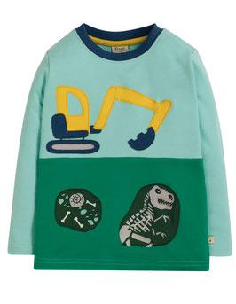 Frugi Shirt Langarm Bagger blau