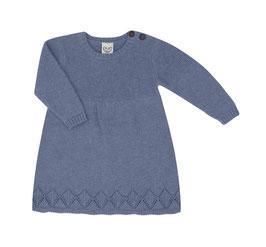 NEU Puri Organic Strick-Kleid china blue
