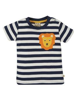 NEU Frugi T-Shirt Löwe gestreift indigo