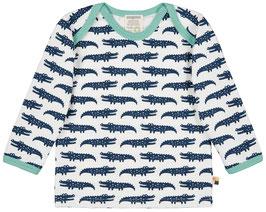 NEU Loud + Proud Shirt Langarm Krokodil ultramarin