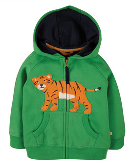 NEU Frugi Sweatjacke Tiger glen green