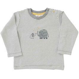 NEU People Wear Organic Shirt Langarm Ringel grau/weiß