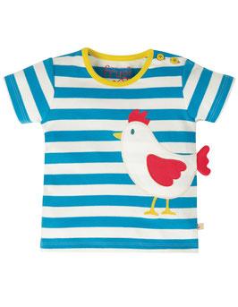 Frugi T-Shirt Huhn gestreift blau/weiß