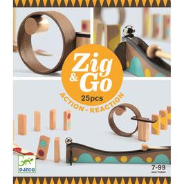 NEU Djeco Zig & Go Kettenreaktionsspiel 5642 7+ Jahre
