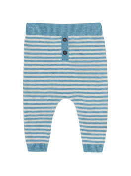 NEU Puri Organic Pant Ringel bristol blue/ natur