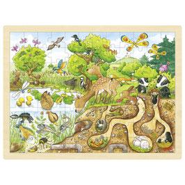 """Goki Einlegepuzzle """"Erlebnis in der Natur""""  3+ Jahre"""
