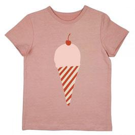 ba*ba T-Shirt Eistüte rosa