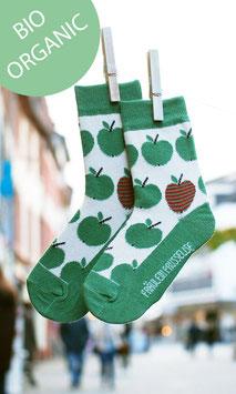 Fräulein Prusselise BIO Socken Apfel grün