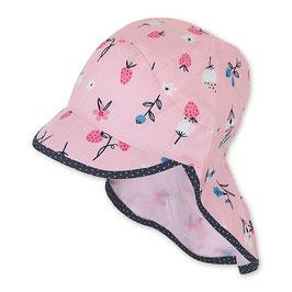 NEU Sterntaler Schirmmütze UV 50 Flapper Blumen rosa
