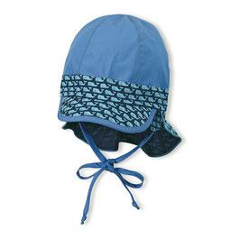 NEU Sterntaler Schirmmütze UV 50 Flapper samtblau Wal