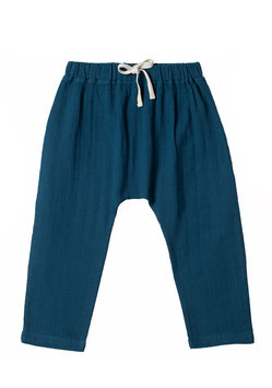 NEU Organic by Feldman Musselin Baggy Pants - petrol blue