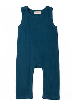NEU Organic by Feldman Musselin Playsuit - petrol blue