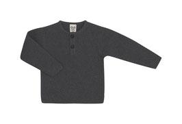 Puri Organic Pullover Henley metal grey