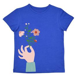 ba*ba Kidswear T-Shirt Blumen blau