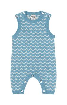 NEU Puri Organic Strick-Overall Wellen bristol blue
