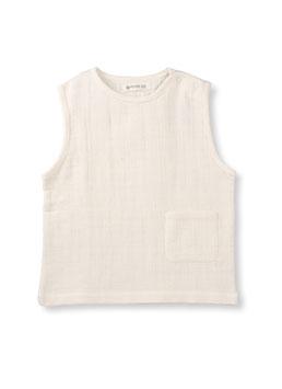 NEU Organic by Feldmann Musselin ärmelloses T-Shirt - Schönheit der Nature