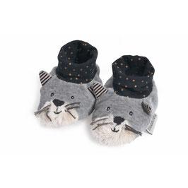 NEU Moulin Roty Babyschüchen Katze Fernand