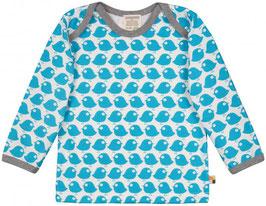 NEU Loud + Proud Shirt Langarm Vogel petrol