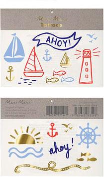 "Meri Meri Tattoos ""Ahoy Matrose"""