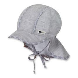 Sterntaler Schirmmütze UV 30 grau