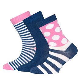 Ewers 3 Paar Socken tinte/ pink
