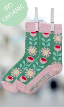 NEU Fräulein Prusselise BIO Socken Retro Blume