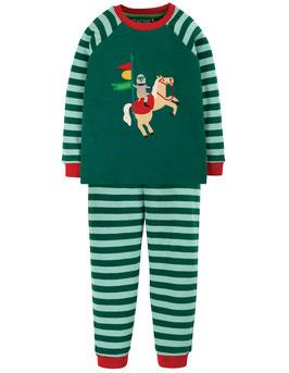 Frugi Pyjama Ritter pine gestreift