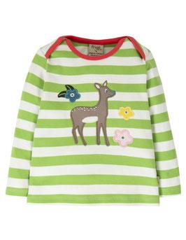 NEU Frugi Shirt Langarm Reh gestreift grün
