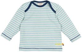Loud + Proud Shirt Langarm Micro-Streifen hellblau