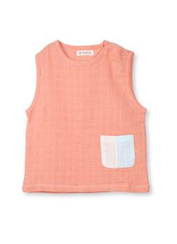 Organic by Feldman Musselin ärmelloses T-Shirt - canyon sunset