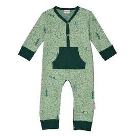 ba*ba Kidswear Bodysuit Overall jadegrün meliert