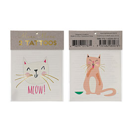 "Meri Meri Tattoos ""Meow"""